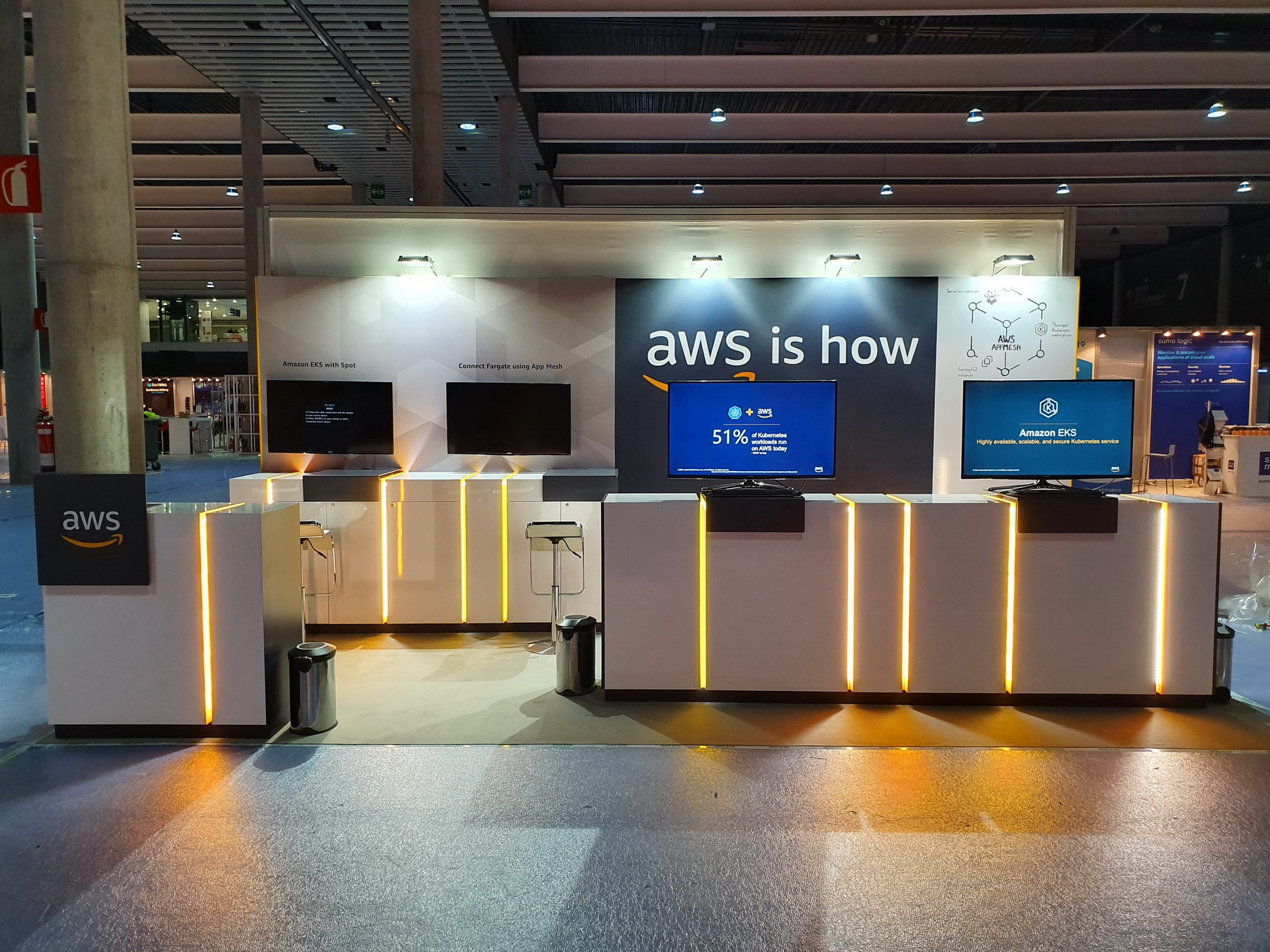 stand AMAZON WEB SERVICES KUBECON